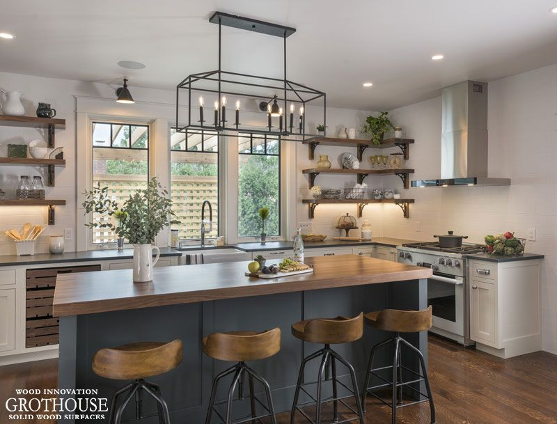 Kitchendesigninspiration Walnut Kitchen Island Countertop Designed By This Old House N Kitchen Dining Room Combo Kitchen Island Countertop Kitchen Dining Room