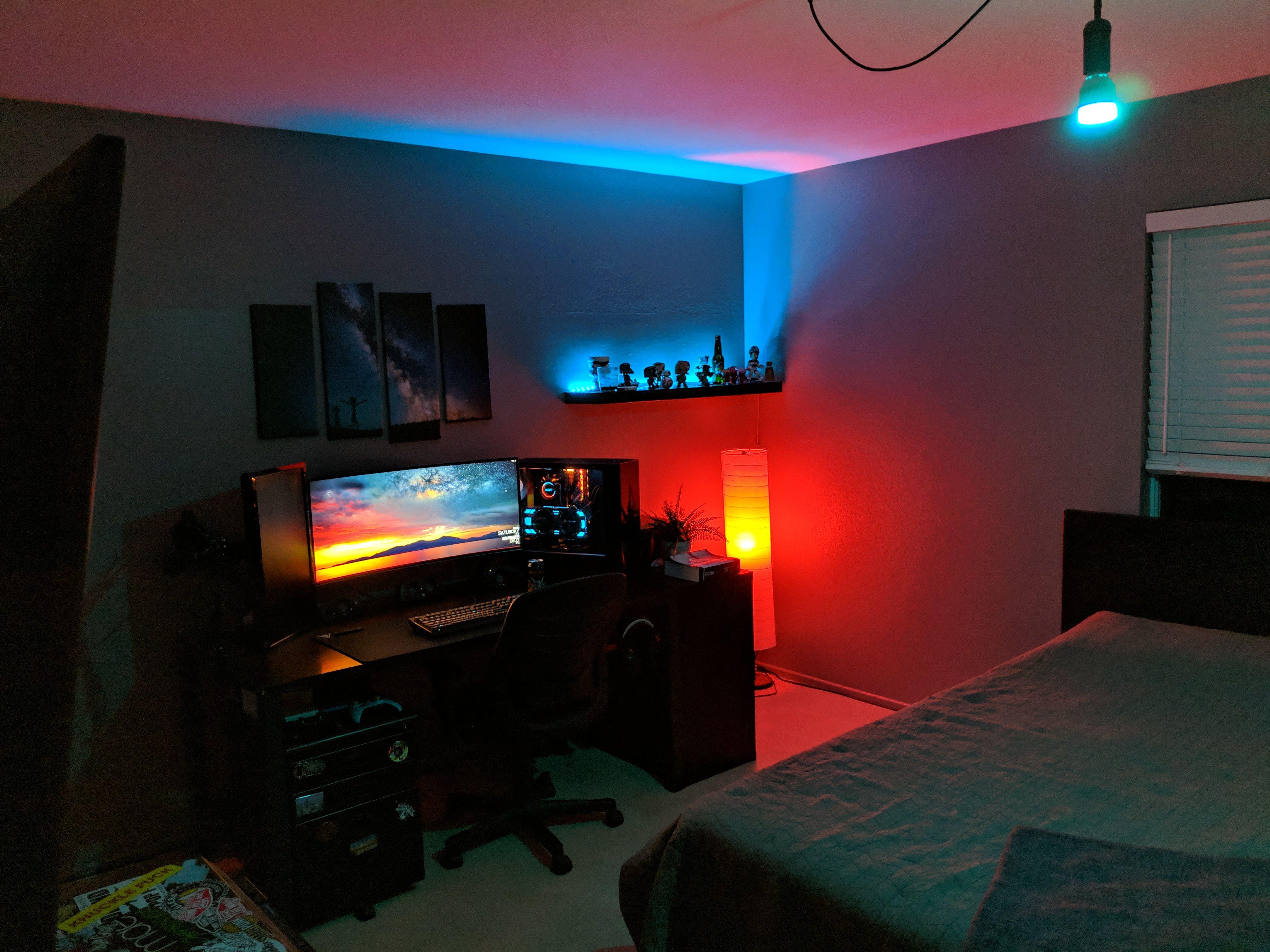 Sanctuary Bedroom Setup Game Room Design Gaming Room Setup