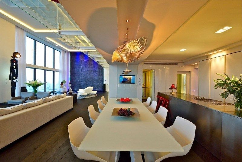 Modern Dining Room Artemide Cosmic Angel