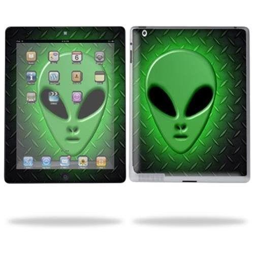Protective Vinyl Skin Decal for Apple iPad 2 (2011 model) 2nd Gen Tablet E-Reader - Alien Invasion