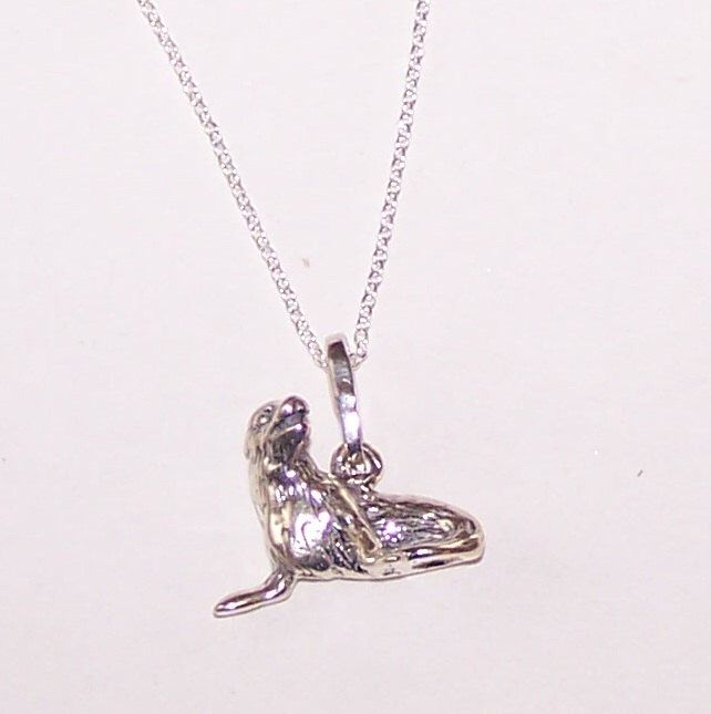 Sterling 3d sea lion pendant with chain animal wildlife sterling 3d sea lion pendant with chain animal wildlife marinelife ocean mozeypictures Image collections
