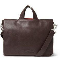 RALPH LAUREN   Tumbled-Leather Messenger Bag