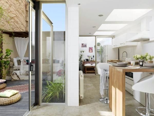 Kitchen and so open to outdoor space....perfect!