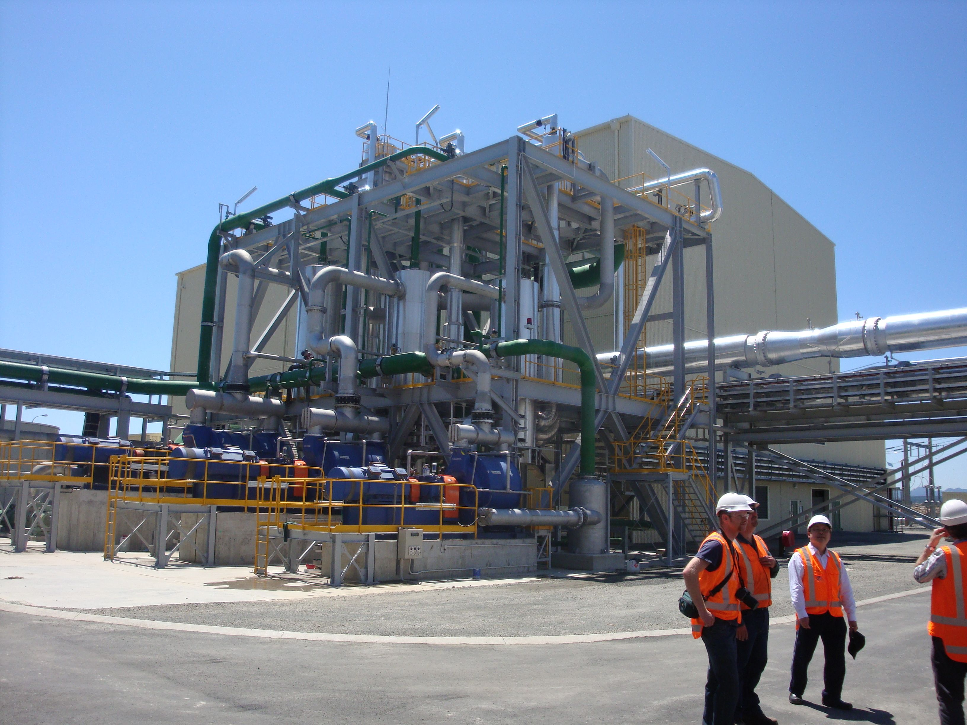The Kawerau Power Station is a 100 megawatt geothermal power plant