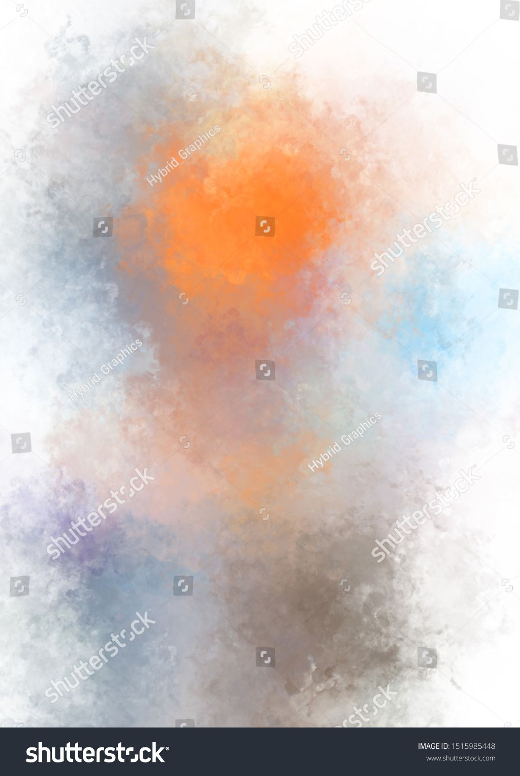 Digital Illustration with strokes of paint Abstract background with colorful brushed pattern Brush stroked painted wallpaper 2d texture painting