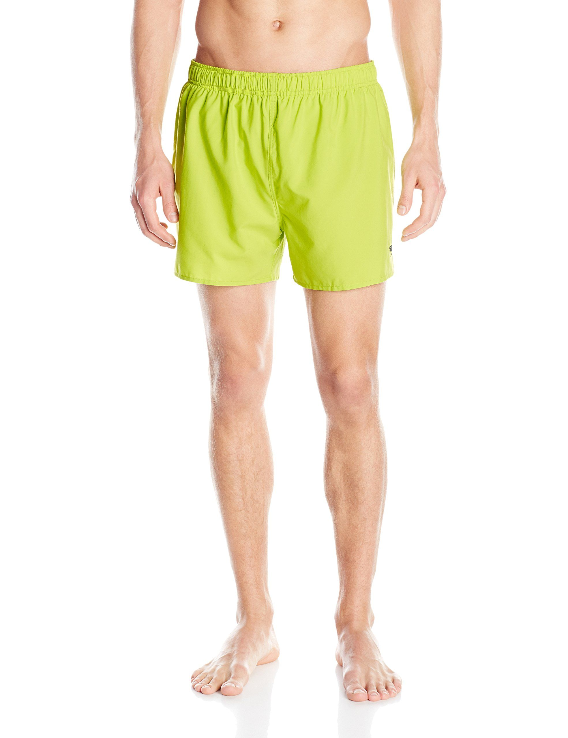 f7693909e6 Speedo Men's Surf Runner Volley 14 Inch Watershorts, Citrus, X-Large. Solid