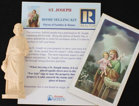 Saint Joseph Is The Patron For Those Who Are Trying To Their Homes Catholic Products Offers This St Realtor Home Kit