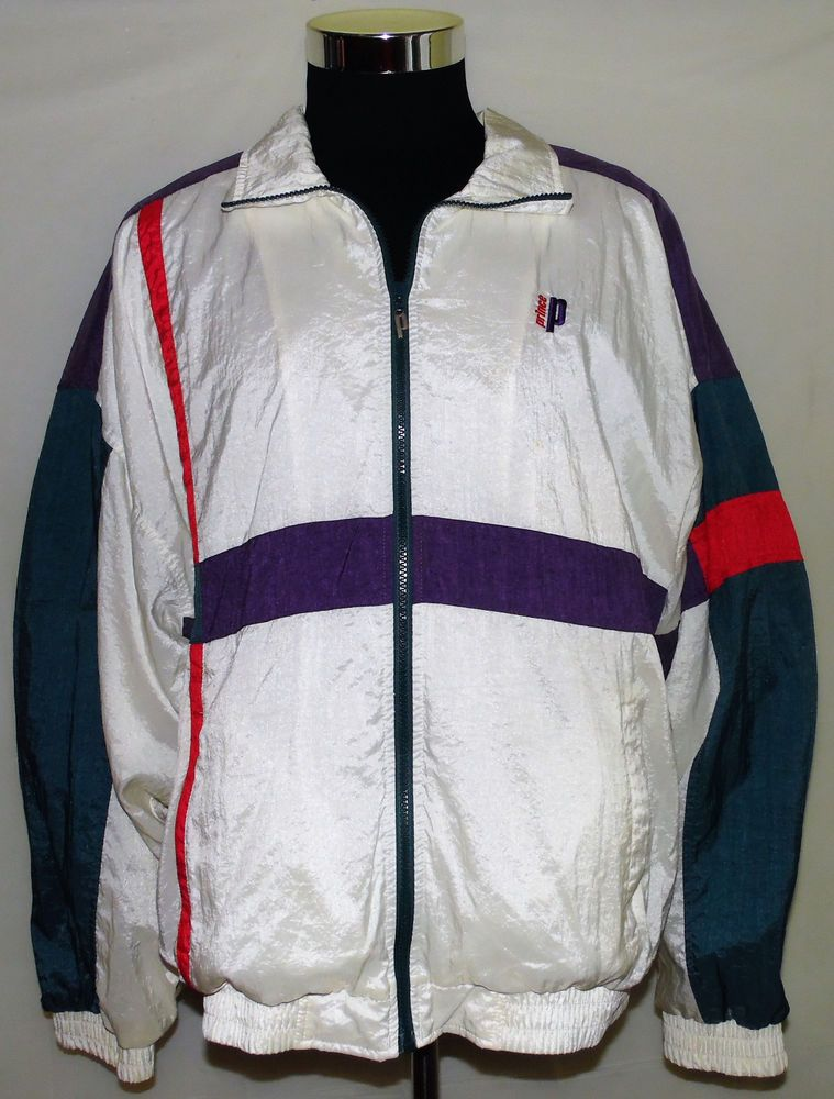 Prince Tennis Brand Vintage 80 S 90 S Multi Color Full Zip Track Jacket Size Xl Prince Tracksuitssweats Track Jackets Jackets Prince Tennis