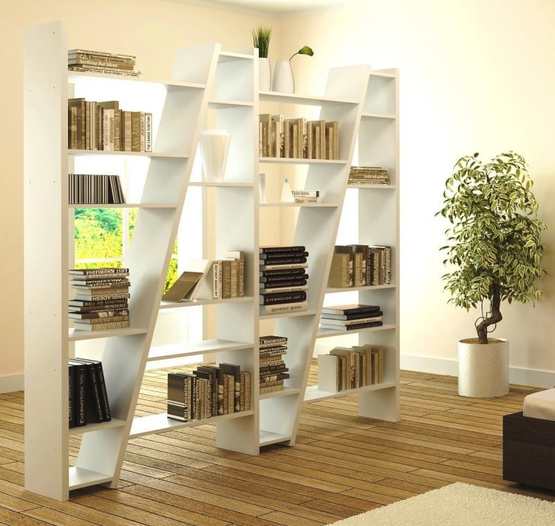 Temahome Delta White Modular Room Divider Shelf Or Display Unit