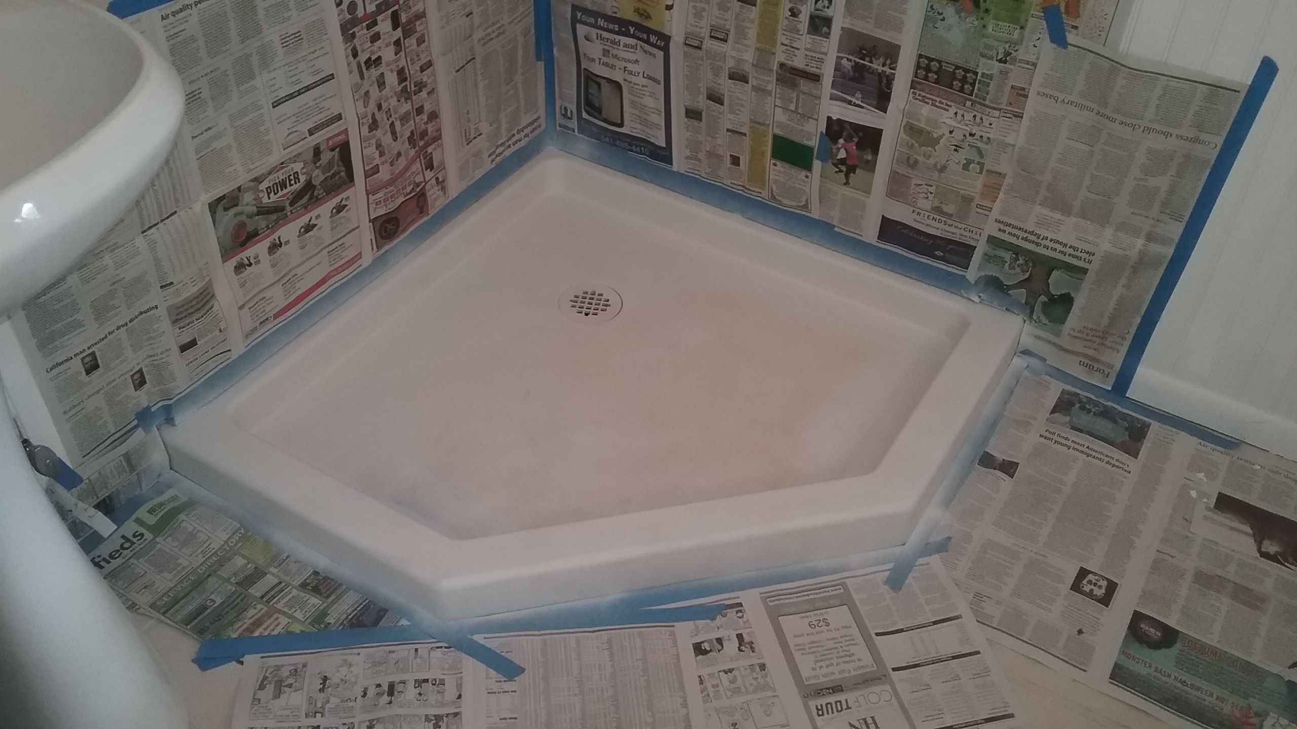 Painting The Shower Pan Was An After Thought I Should Have Done