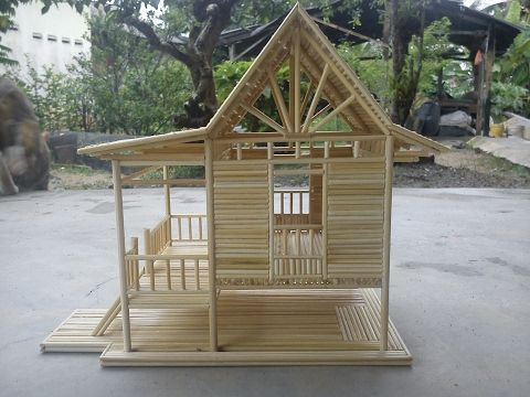 Bamboo stick miniature house -  Custom Made