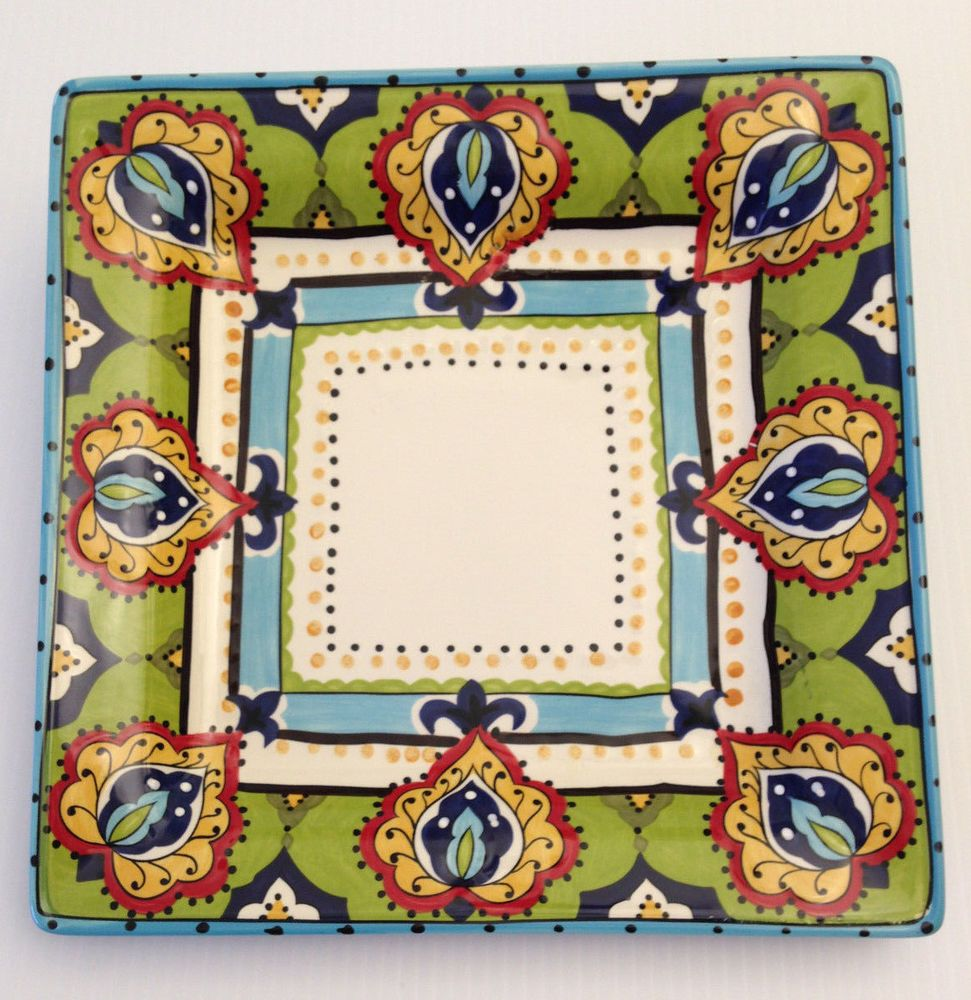 Espana Lifestyle Bocca Hand Crafted Square Plate Old Spanish Style ...