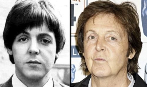 Paul McCartney In 1964 And Now These Two Pictures Make A Fascinating Study For The Is Dead Was Replaced Scenario Them Closely Noses