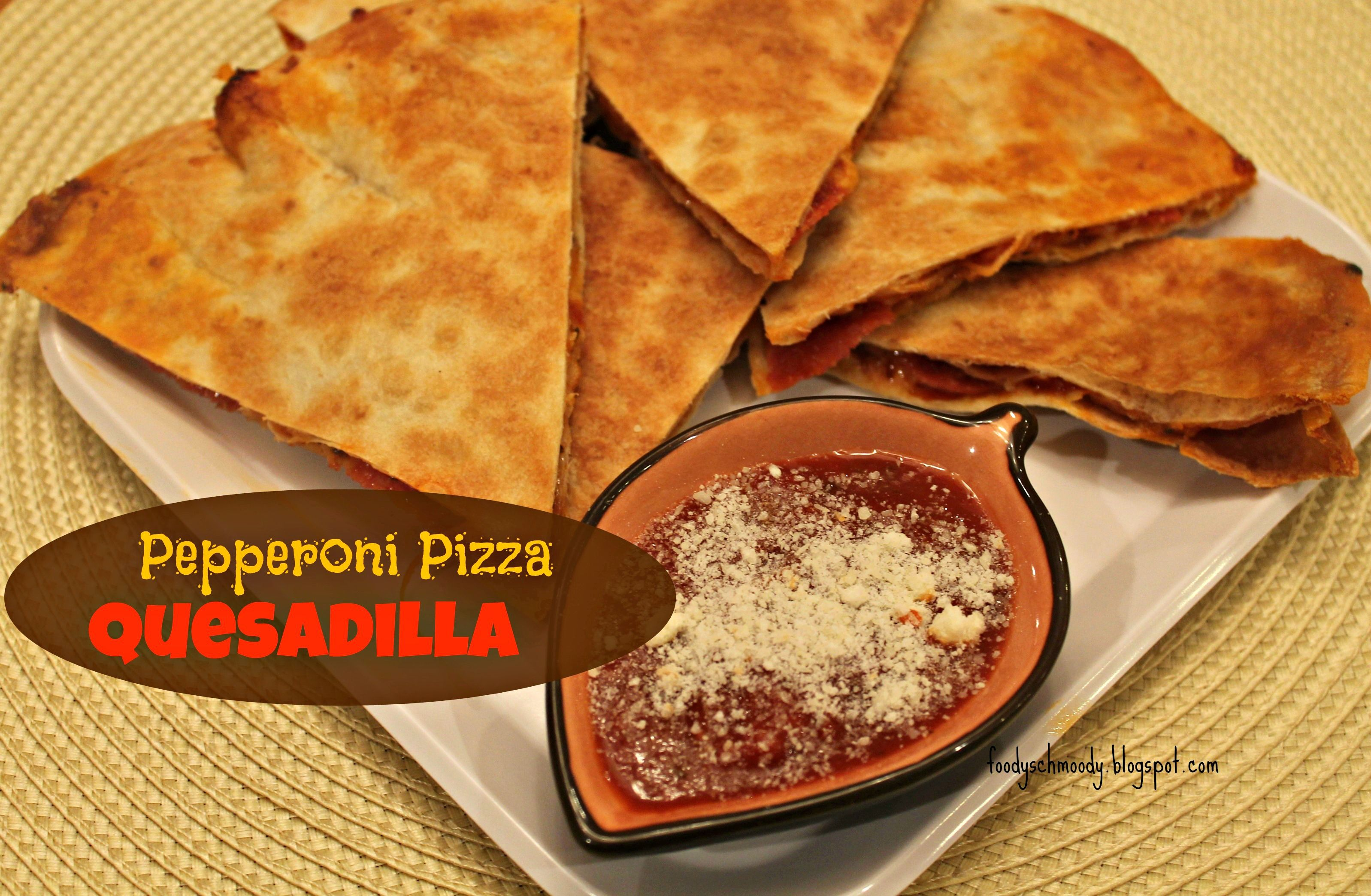 Pepperoni Pizza Quesadilla #snack #pizza #quesadilla Serve it as a meal w/ a salad or serve as an appetizer or game day snack.  Kids and grown ups alike will fall in love with this