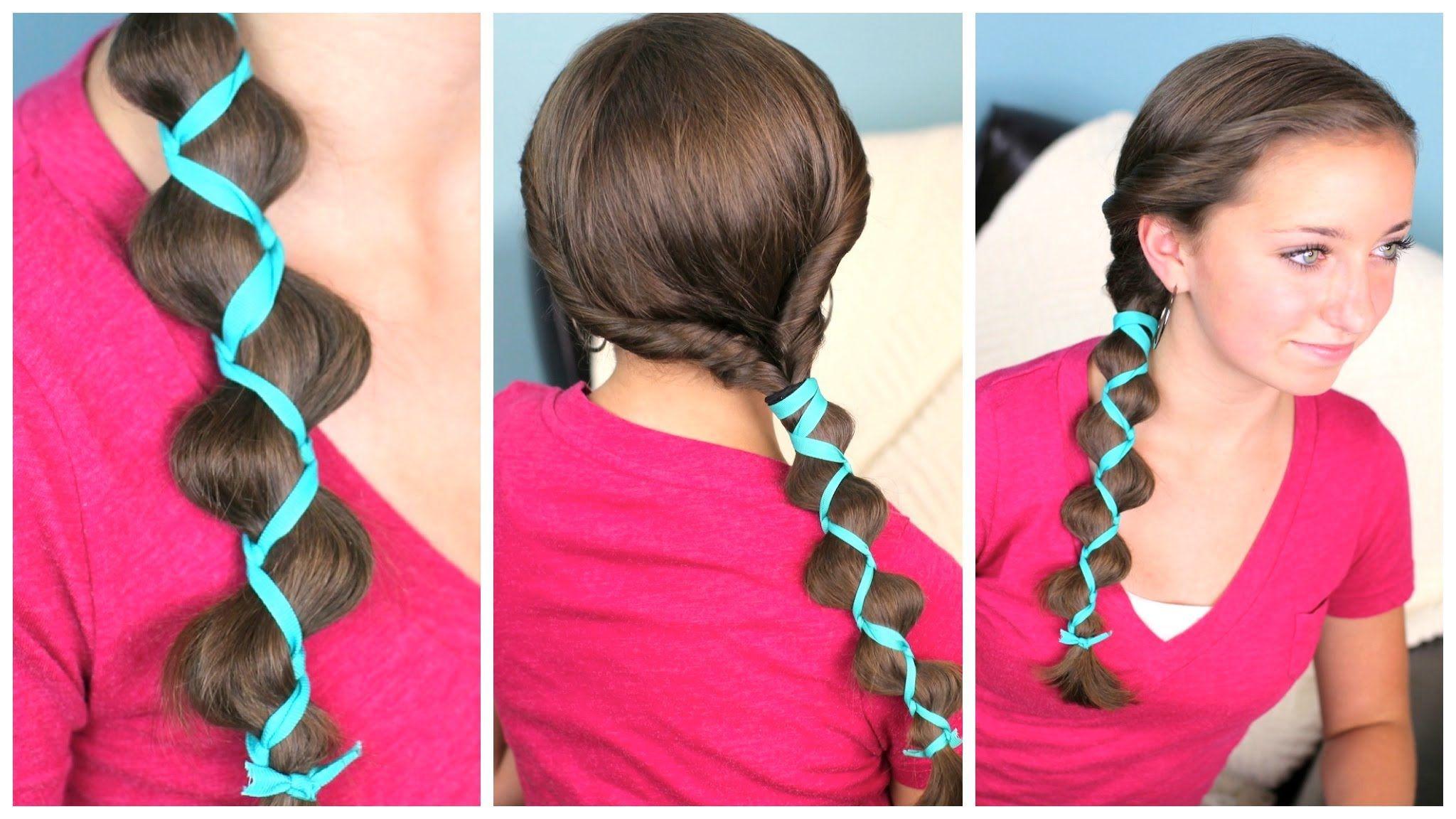 Ribbon accent loony braid hair styles pinterest hair styles