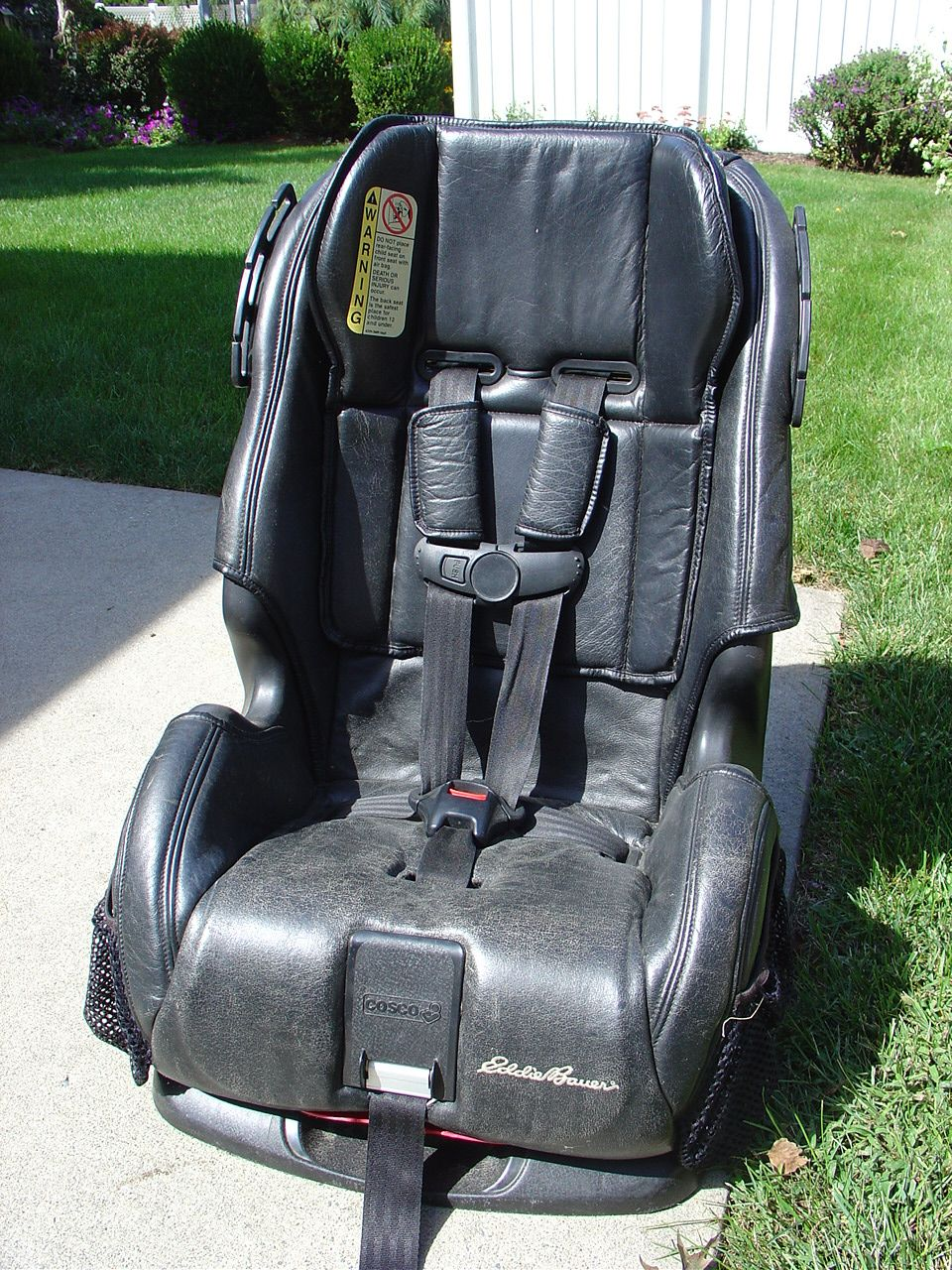Black Leather Ed Bauer 2002 Vintage Children Baby Car Seats Items