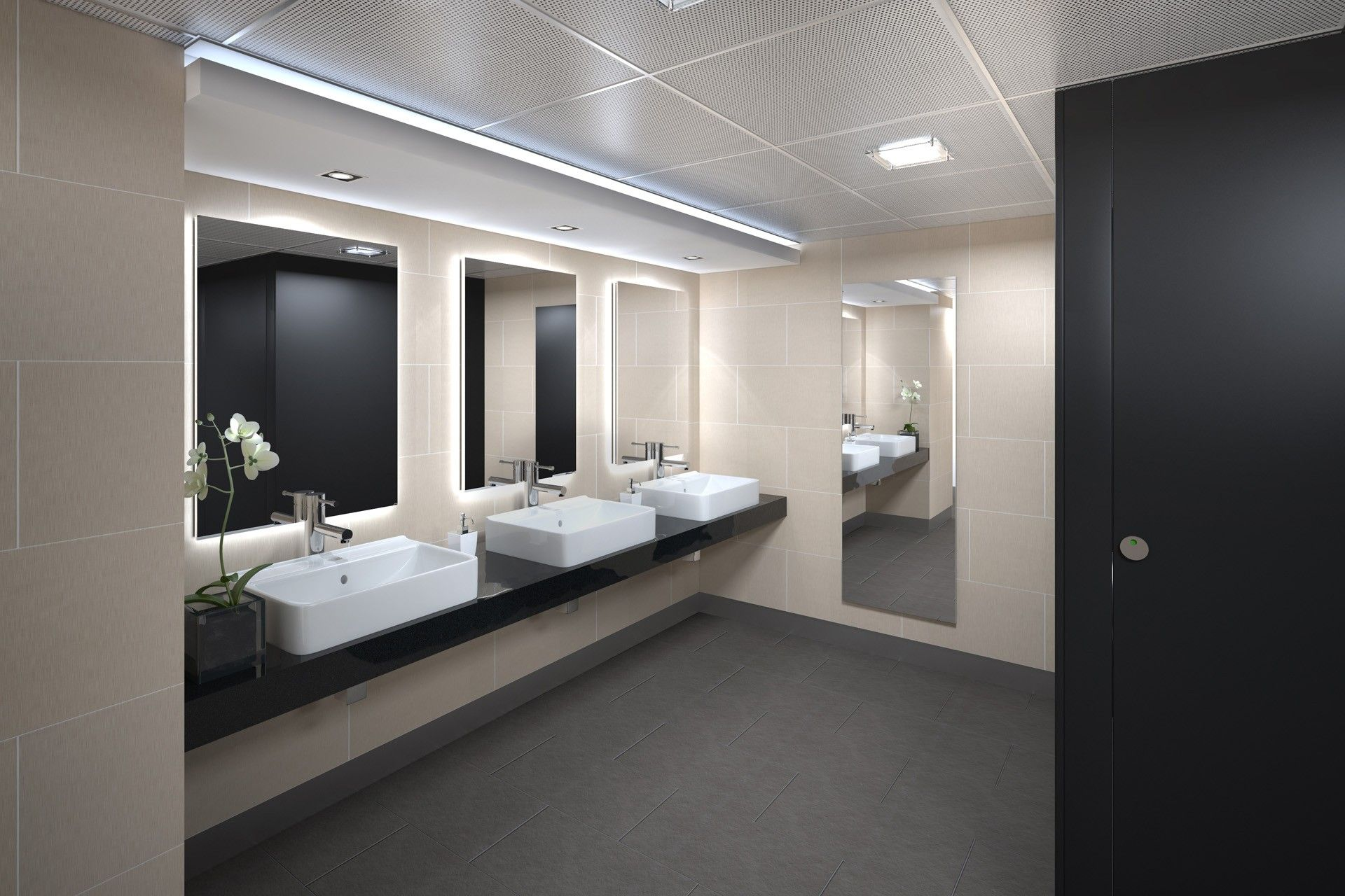 Small Bathroom Commercial Interior Design Google Search Commercial Bathroom Designs Washroom Design Commercial Bathroom Ideas