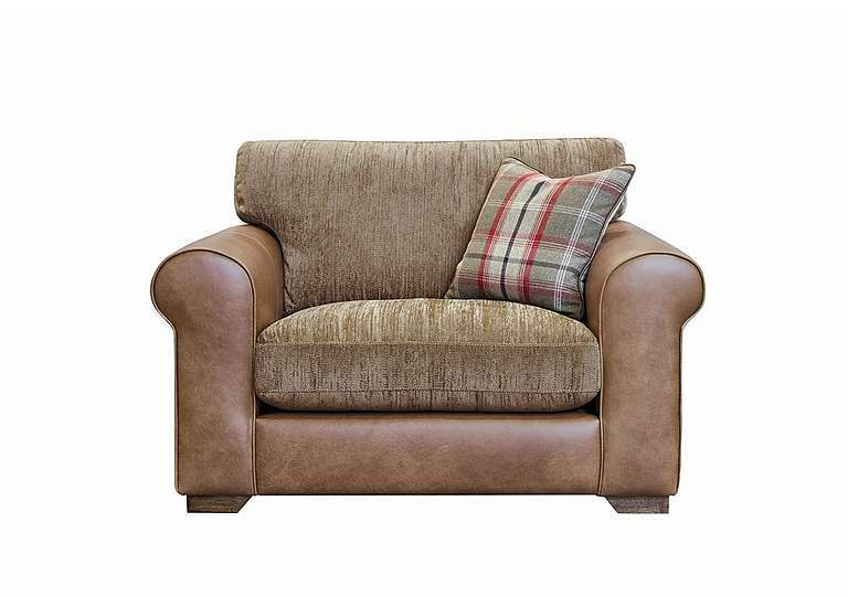 Highland Leather Snuggler Armchair | Armchair, Cheap ...