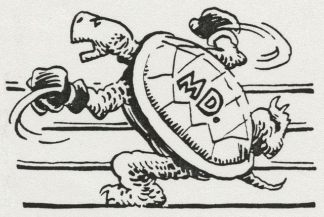 Testudo in the ring, 1950, via Flickr.