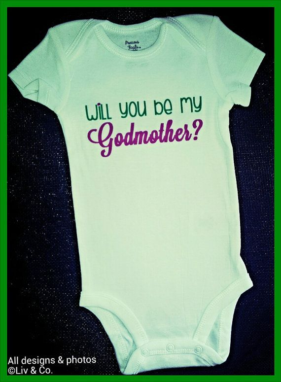 47a83b218 Godmother Onsie Bodysuit Romper and Shirt by LivAndCompanyShop ...