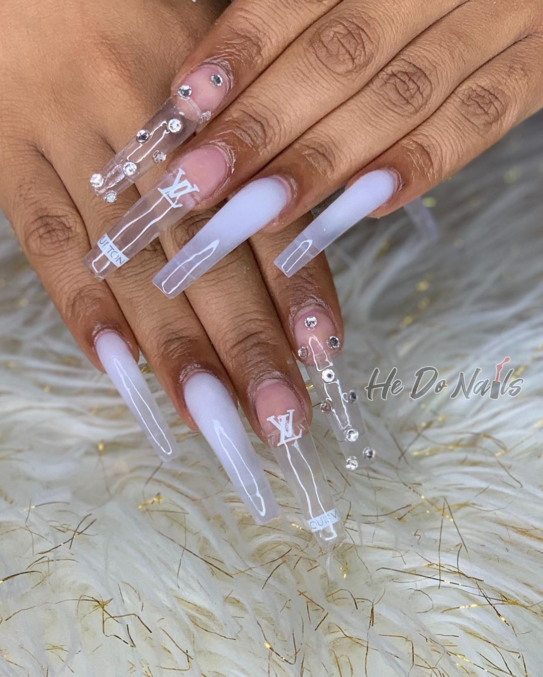 20 Dollar Deposit Required On Instagram Lengthy For My Sweet Thang Licensed In 2020 Long Acrylic Nails Coffin Bling Acrylic Nails Acrylic Nail Designs Coffin