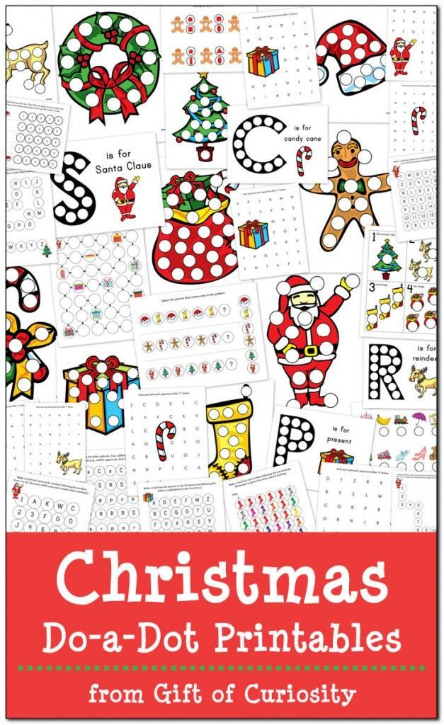 Christmas Do-a-Dot Printables | Sadie & Scarlet | Pinterest | Schule ...