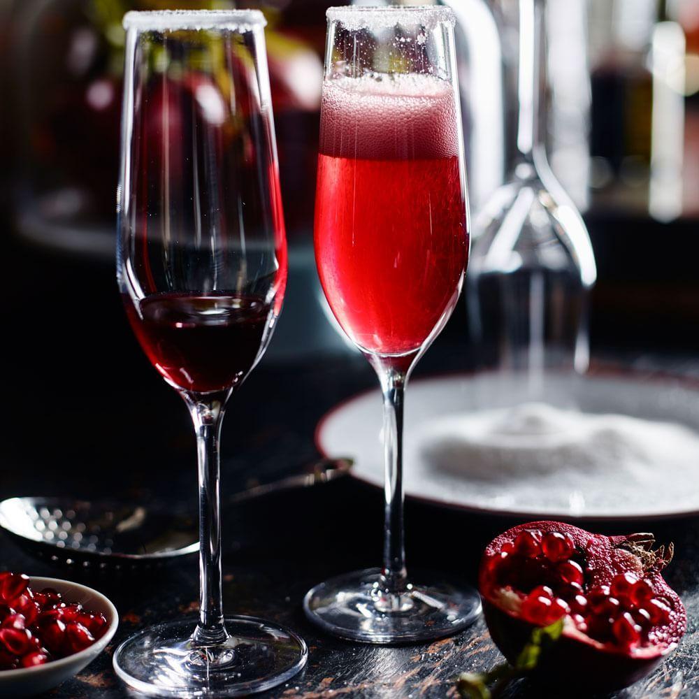 Ginger Royale Recipe Sparkling Drinks Cocktails Holiday Cocktails