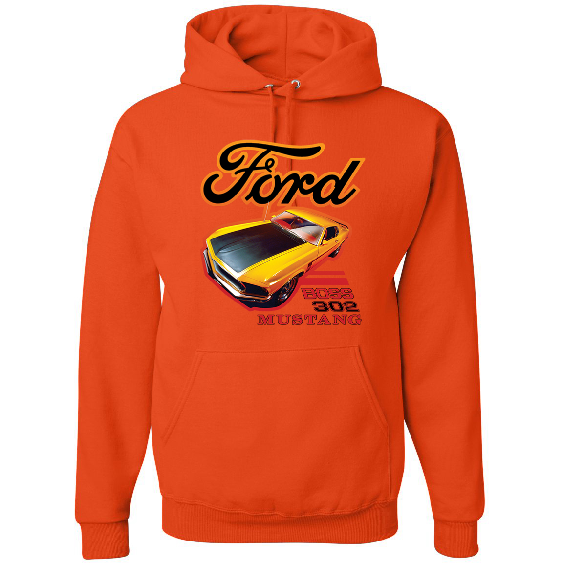 Ford Boss 302 Mustang Racing Classic Cars and Trucks Graphic Hoodie Sweatshirt, …