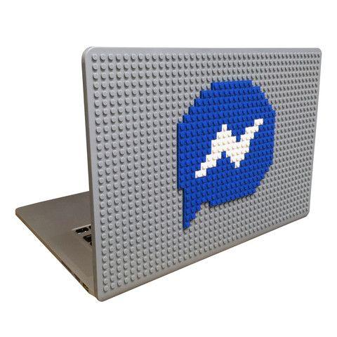 Messenger MacBook Case from BrikBook.com messenger, facebook, blue, social, macbook, macbook case, pixel, pixel art, 8bit Shop more designs at http://www.brikbook.com #messenger #facebook #blue #social #macbook #macbookcase #pixel #pixelart #8bit