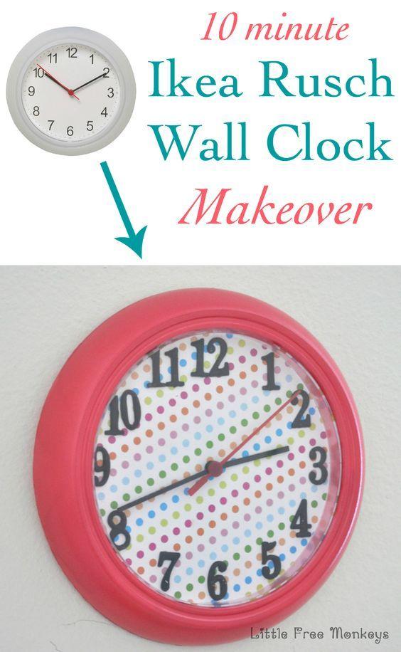 Ikea Rusch Wall Clock Makeover Ikea Rusch Clock Hack Little Free