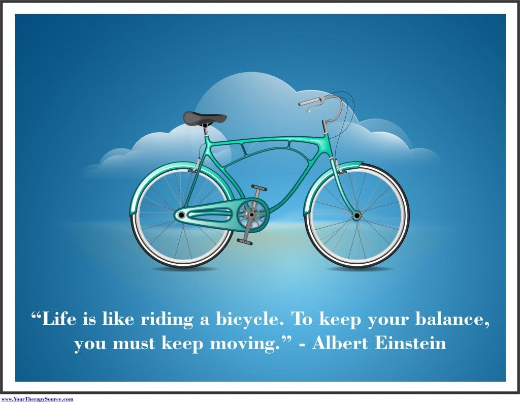 "Occupational Therapy Quotes Motivational Sign For The Otpt Room  ""life Is Like Riding A"