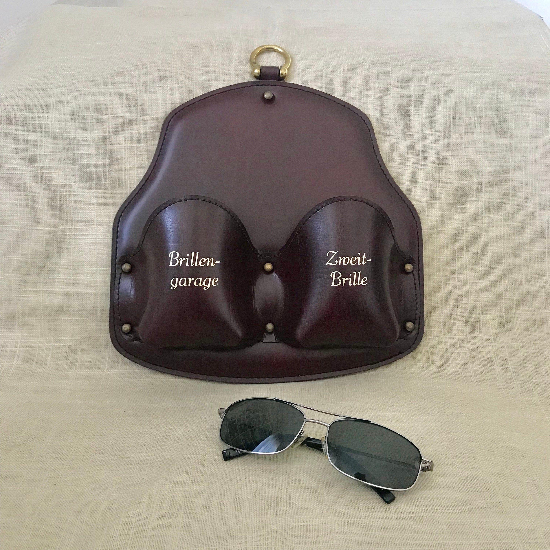 Vintage Reading Glasses Holder Burgundy Leather Glasses Case