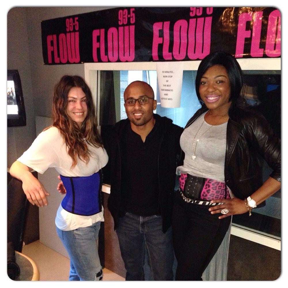 44cf2f3bb49 My first radio interview on flow 93.5  jjand Melanie show Melanie got waist  trained by me  416hourglassgirls  416hourglassgirls  waist  trainer   hourglass ...