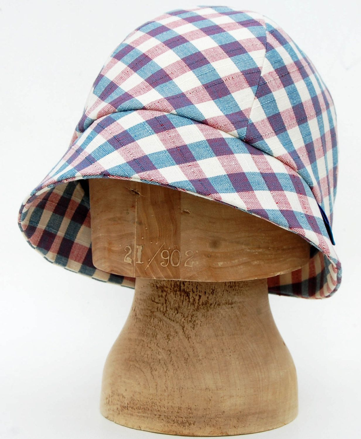 a1fe81ebb218b Pink and Green plaid sun hat