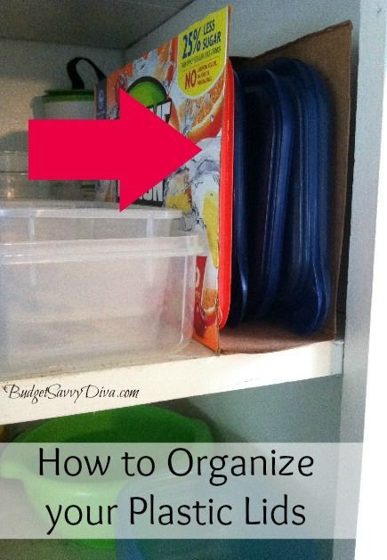 Cover In Contact Paper Or Spray Paint So Cereal Box, Etc Isnu0027t So Darn  Unsightly. Use An Empty Cereal Box As A Lid Organizer!