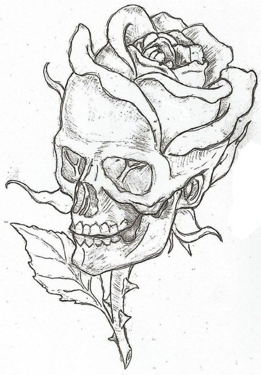 Pin by Nicole Fulton on tattoo idears | Skull art, Pencil