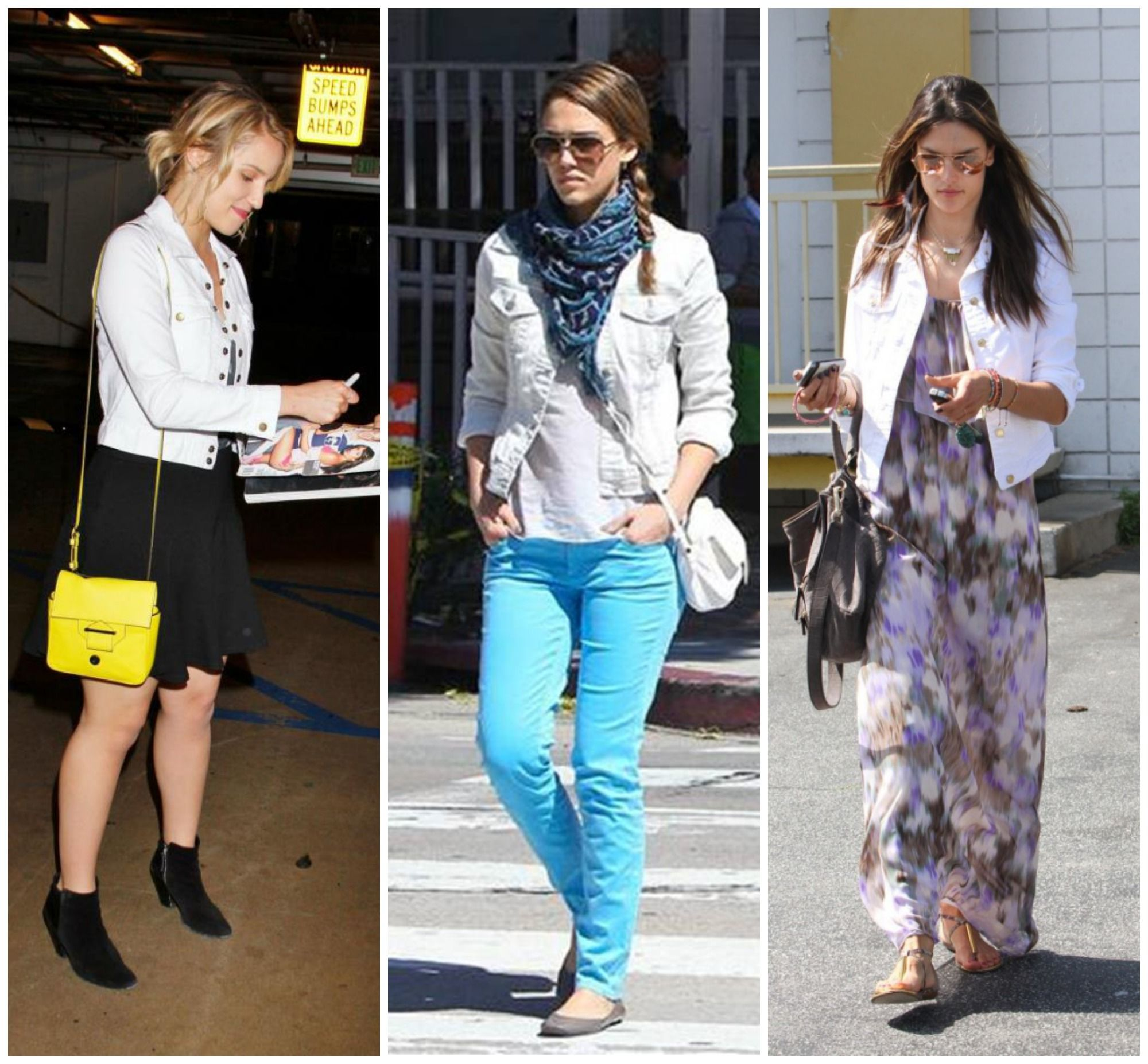 White-denim-jacket-celebrity-trend-Dianna-Agron-Jessica-Alba ...