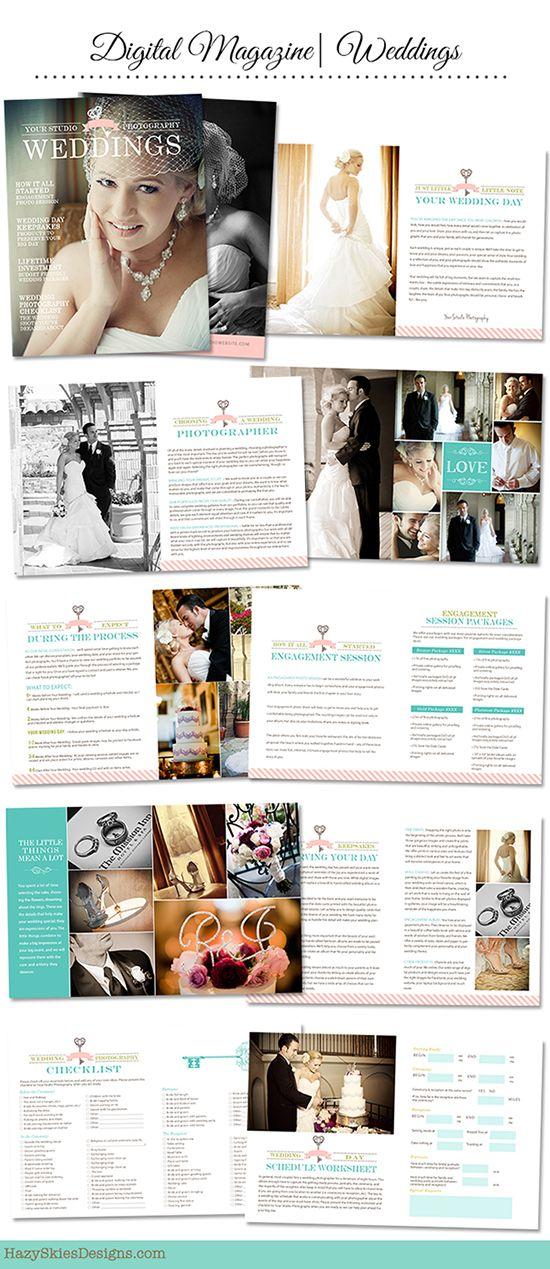 Digital Wedding Magazine Template For Photographers Photographer Photography Wedding Template Wedding Magazine Template Wedding Magazine Digital Weddings