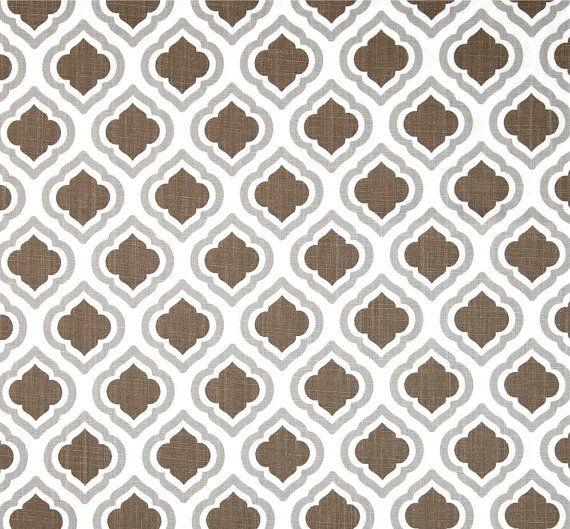 Peachy Brown Grey Fabric Modern Geometric Home Decor Fabric By Interior Design Ideas Inamawefileorg
