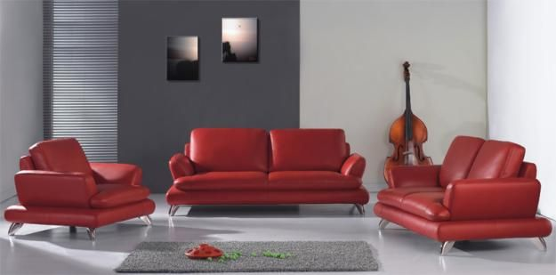 Decoracion de salas con muebles rojo   google search ...