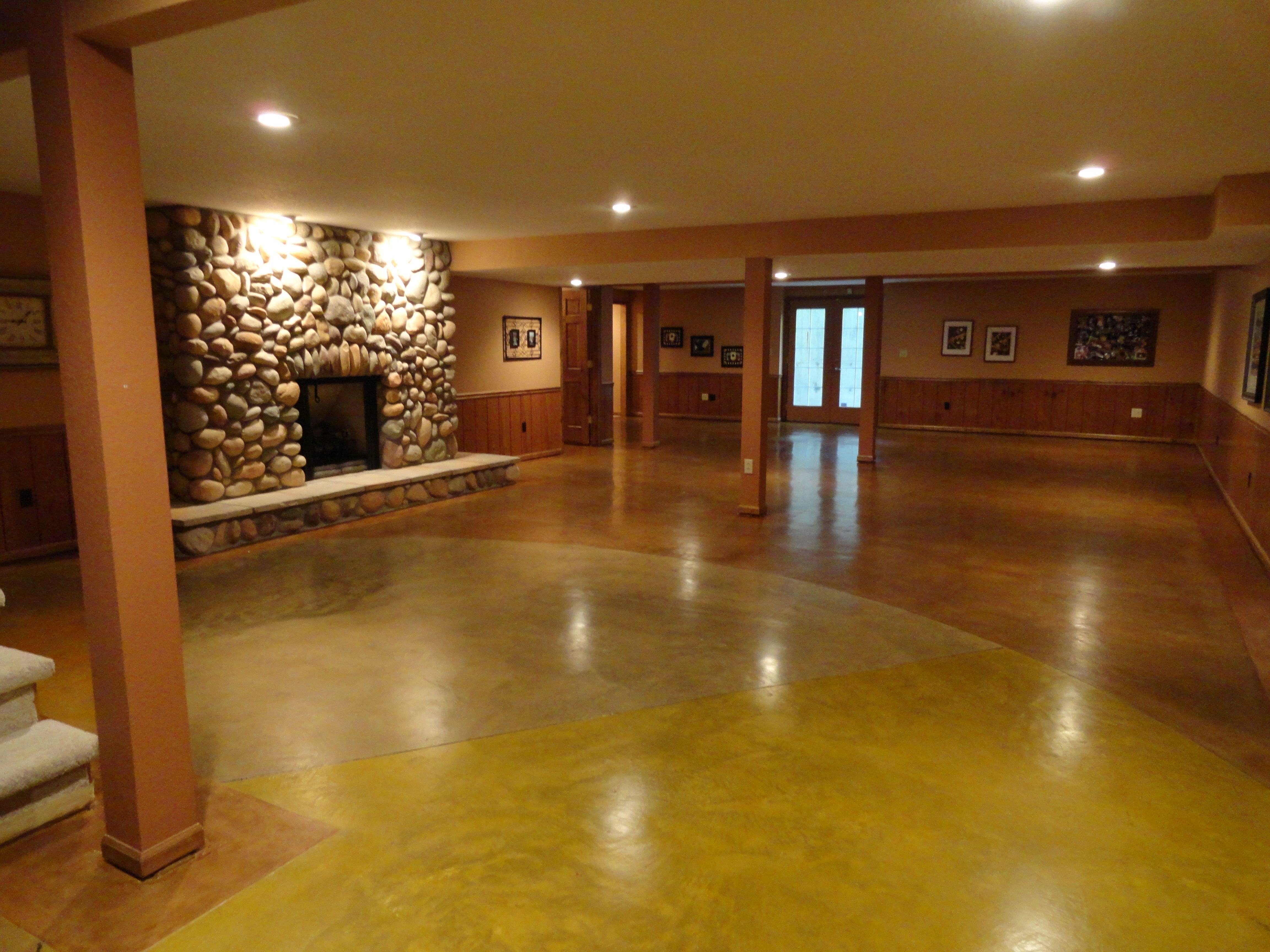 Stained Concrete Floor Fort Wayne Polished Concrete Nick
