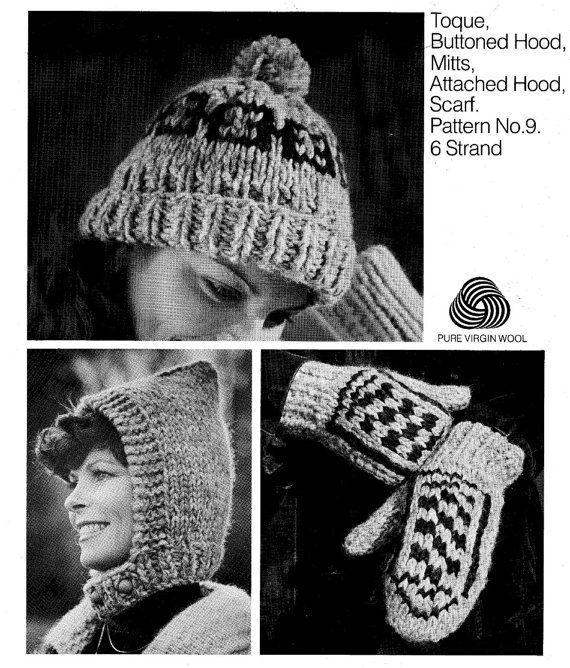 d1f40603cde Cowichan Style Toque Knitting Pattern hat by KilbellaVintage
