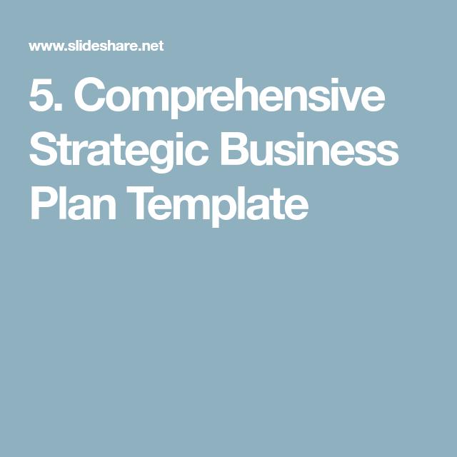 5 comprehensive strategic business plan template biz woman comprehensive strategic business plan template flashek Images