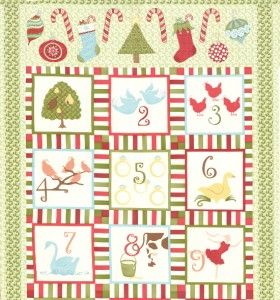 Moda 12 Twelve Days Of Christmas Fabric Panel Christmas Fabric Panels Christmas Fabric Christmas Quilt