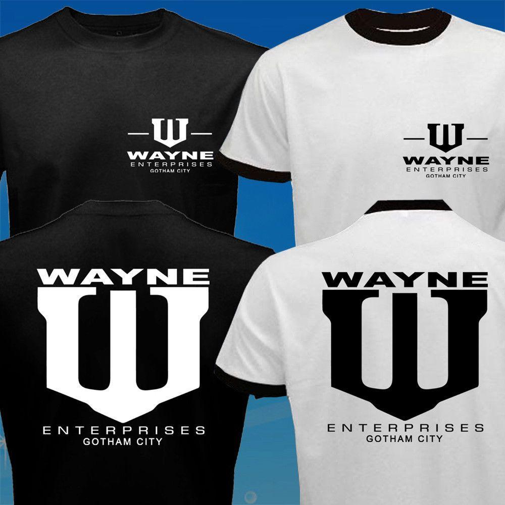 Wayne Enterprises T-Shirt Cool Batman Mens Shirt Movie Tee
