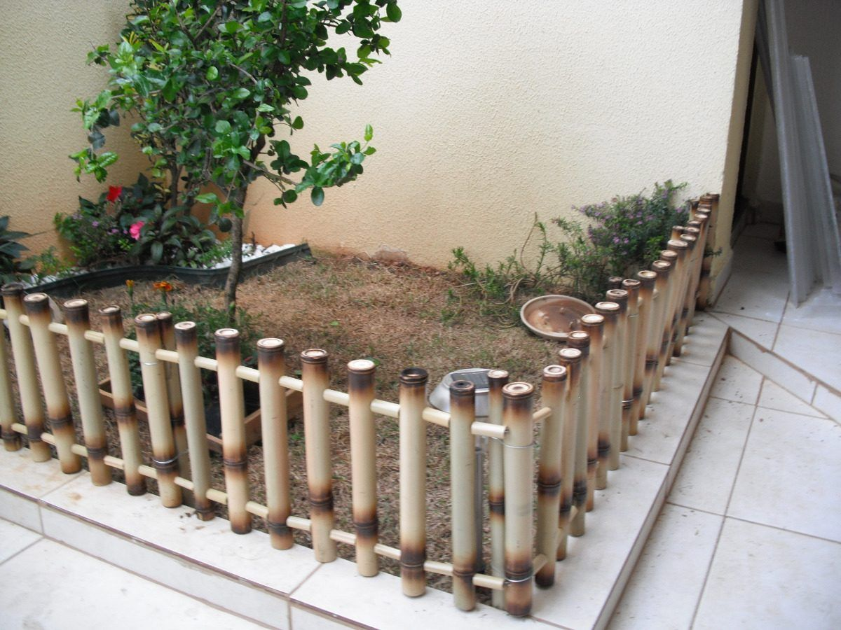 Resultado de imagen para cercas para jardin en pvc - Jardin de bambu talavera ...