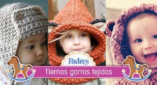 10 increíbles gorros tejidos para bebé