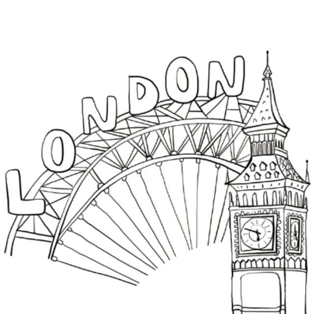 London Colouring Page