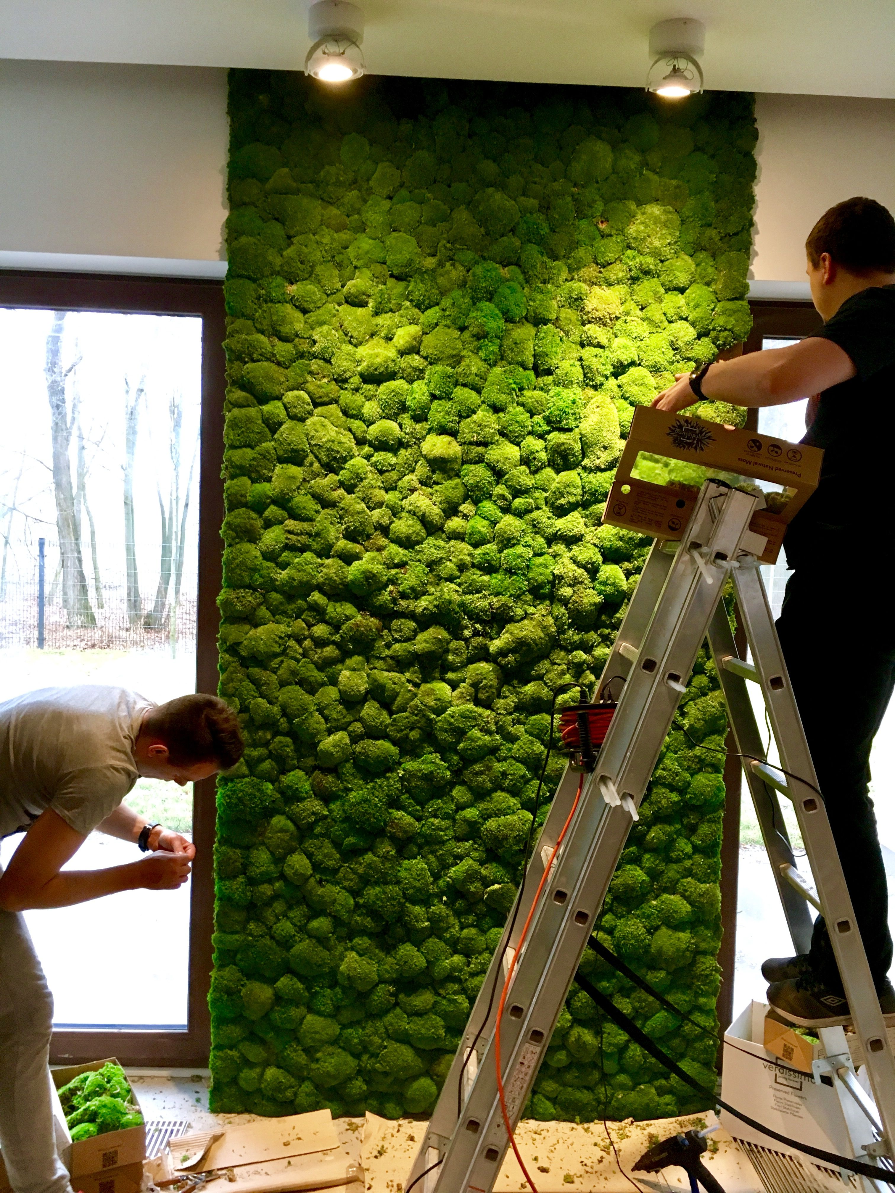 Artificial Green Wall With Mirror
