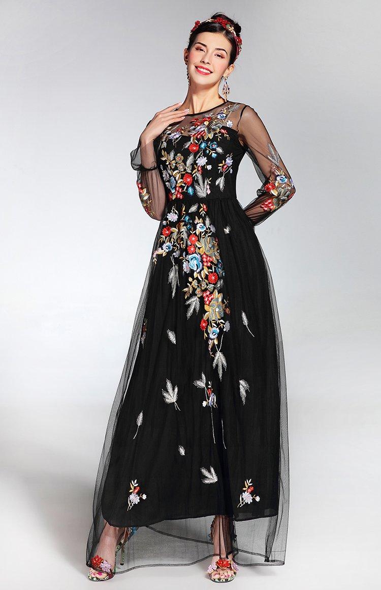 39e59416bd756 Garden Dress | Black Embroidered Dress | Women's Clothing – Paradise drive